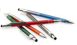 100 Stück schlanke Design 2in1 Touchpen  Aluminium Kugelschreiber Baltimore mit individueller Gravur