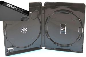 Amaray Blu Ray Hülle schwarz 135x170x15mm mit 4K Ultra HD-Logo FOF für 2 Disks