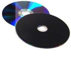 Vinyl Collection 12cm DVD-R im Schallplattendesign schwarz/lila