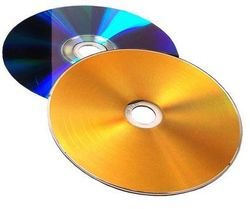Vinyl Collection 12cm DVD-R im Schallplattendesign gold/lila
