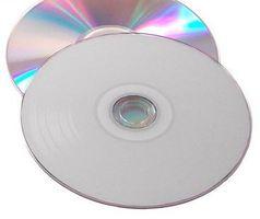 Vinyl Collection 12cm CD-R im Schallplattendesign weiss/silber