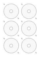 Kronen-Design CD DVD Etikett Mini 8cm Photomatt Inkjet/Laser 60 Stück (= 10 Blatt)
