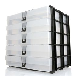 Variocolors A4 Aufbewahrungsregal 345x325x235mm mit 5 transparenten Boxen