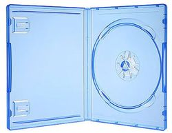 Original Playstation 4 PS4 Leerhülle blau transparent
