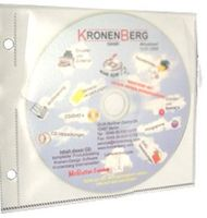 ArchiTops Safety CD Tasche weiss Glossy DVD Sleeve Hülle zum Abheften