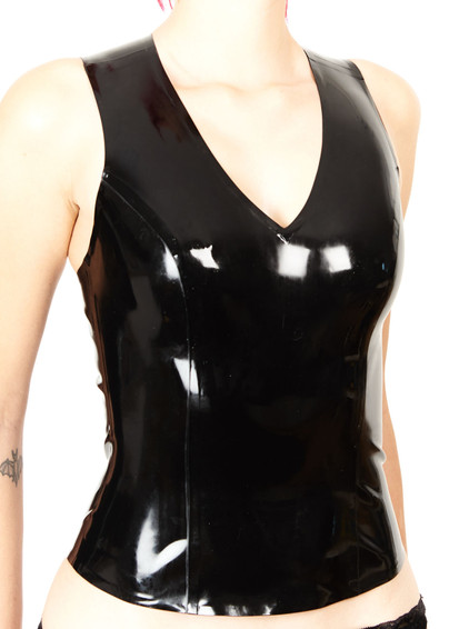 Latex Razor Back Top