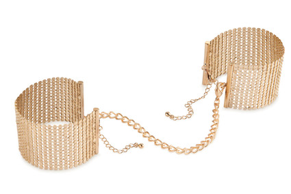 Désir Métallique Handcuffs - Gold metallic mesh