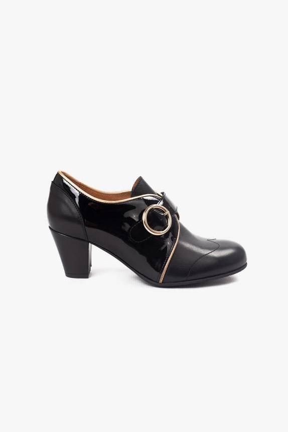 La Veintinueve Agatha Black Gold Schuhe