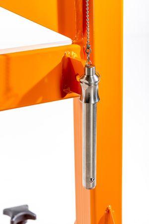 Materialbock höhenverstellbar MAT-L1000H72-102R4 mit 4 Stück seitl. verstellb. Polyamidrollen bis 2.000 kg – Bild 9
