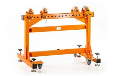 Materialbock MAT-L1200H800R4 mit 4 Stück seitl. verstellb. Polyamidrollen bis 2.000 kg – Bild 1