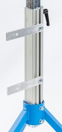 Dreibeinstütze MS 26-1 mit 400 mm breiter Stahlrolle mit PVC-Ummantelung bis 100 kg – Bild 3