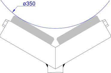 "Dreibeinstütze MS 23-1-L fahrbar mit V-Gabel u. ""PVC-Ummantelten Rollen"" bis Ø 350 mm inkl. Lenkrollen – Bild 4"