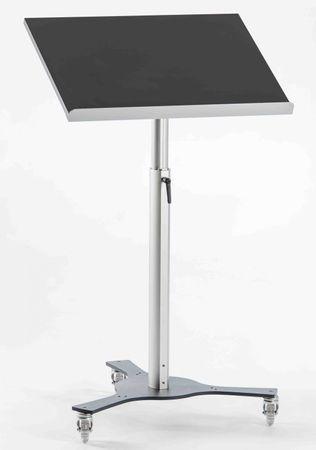 Stehpult TRIPOD fahrbar oder stationär mit neigbarer Arbeitsplatte – Bild 2