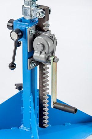 Materialstütze MS 36-Z mit 400 mm Stahlrolle und Zahnstangenverstellung bis 1000 kg – Bild 2
