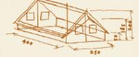 Tortuga Hauszelt Ticino - Vordach - – Bild 2