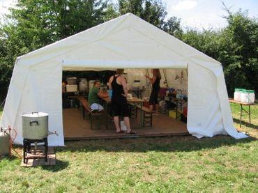 Tortuga Gerüstzelt Küchenzelt Camp – Bild 1