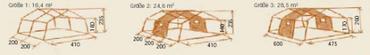 Tortuga Gerüstzelt Arkansas Gr. 6  - Gerüst - – Bild 2