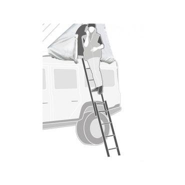 Teleskopleiter für Dachzelte