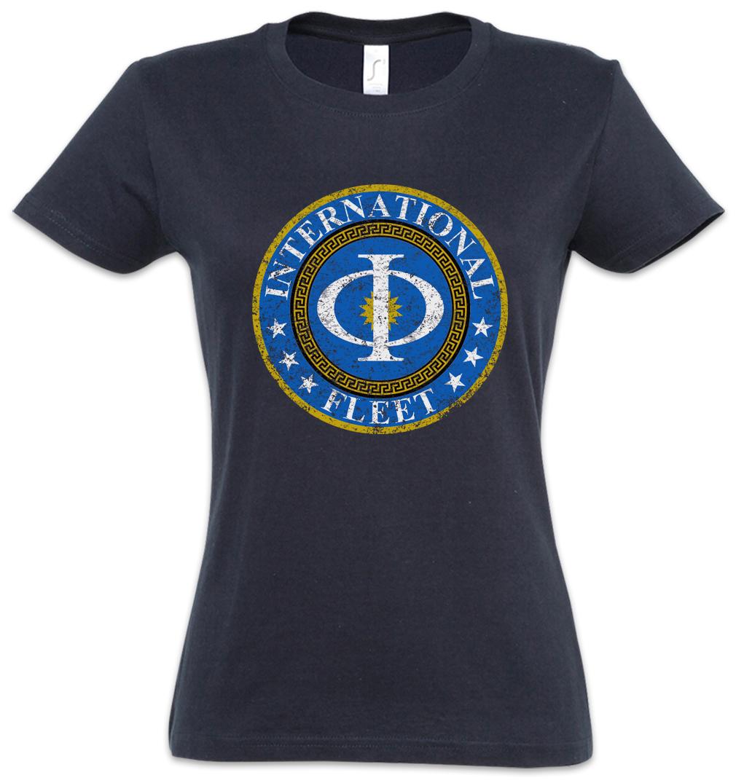 Ender´s Orson Scott Card Game T-Shirt VINTAGE INTERNATIONAL FLEET LOGO T-SHIRT