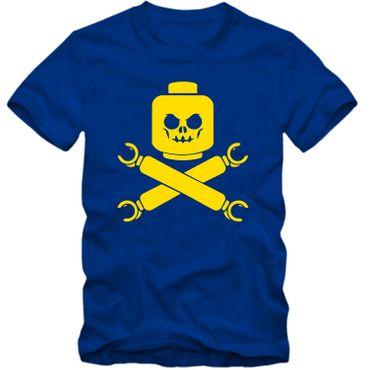 Kinder unisex T-Shirt Baustein Toy Totenkopf Skull Game Player Tee  – Bild 8