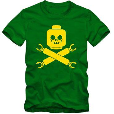 Kinder unisex T-Shirt Baustein Toy Totenkopf Skull Game Player Tee  – Bild 3