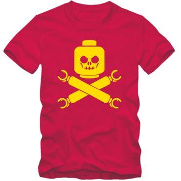 Kinder unisex T-Shirt Baustein Toy Totenkopf Skull Game Player Tee  – Bild 4