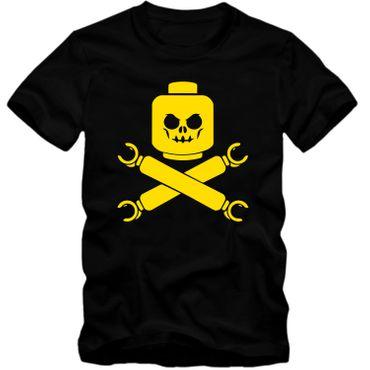 Kinder unisex T-Shirt Baustein Toy Totenkopf Skull Game Player Tee  – Bild 6
