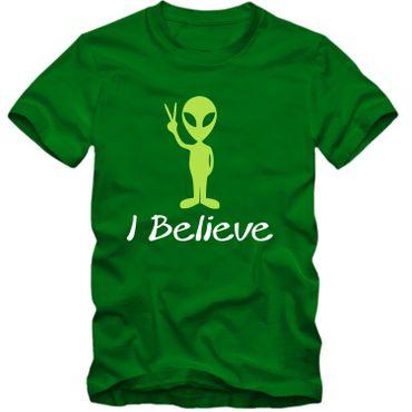Kinder unisex T-Shirt  I Believe Alien Space Universum Universe Ufo Fun NEU – Bild 1