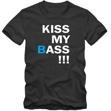 Herren T-Shirt  KISS MY BASS !!! Spaß Fun Tee S-4XL NEU – Bild 3