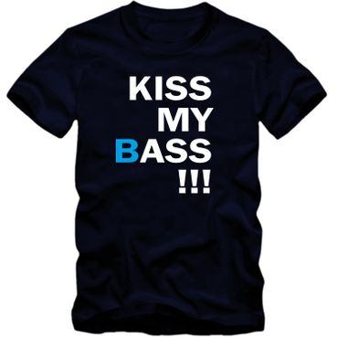 Herren T-Shirt  KISS MY BASS !!! Spaß Fun Tee S-4XL NEU – Bild 6