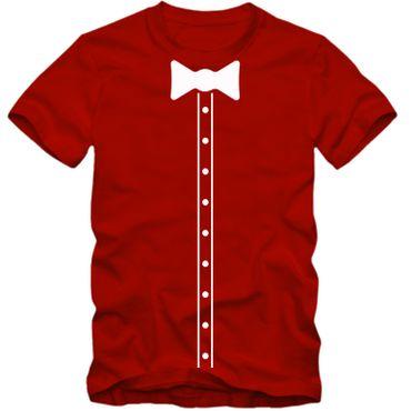 Kinder unisex T-Shirt Elegant Suit Hemd Bow Tie Fliege Party Tee S-3XL NEU – Bild 4