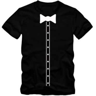 Kinder unisex T-Shirt Elegant Suit Hemd Bow Tie Fliege Party Tee S-3XL NEU – Bild 1