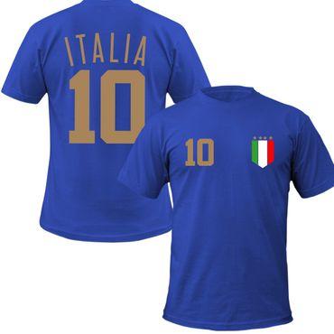 ITALIEN Kinder T-Shirt + Wunschnummer auf Rücken WM EM Fan Italy Team – Bild 1