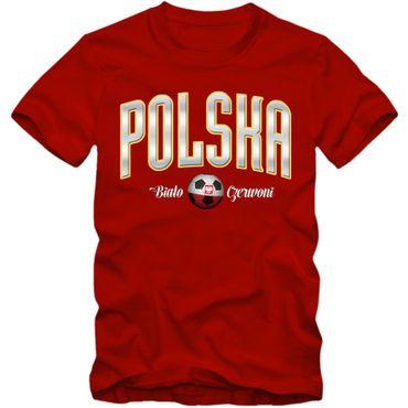 Herren Fußball T-Shirt Polska Polen EM WM Soccer Football S-3XL – Bild 1