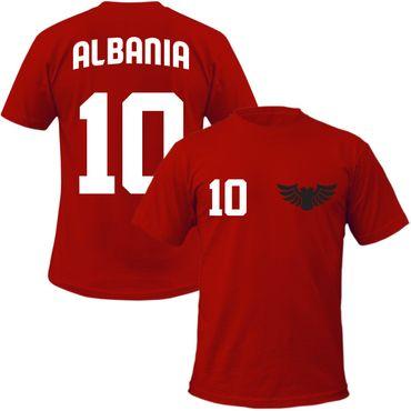 Albania T-Shirt + Wunschnummer auf Rücken  WM  EM Fan Albanien Team – Bild 1