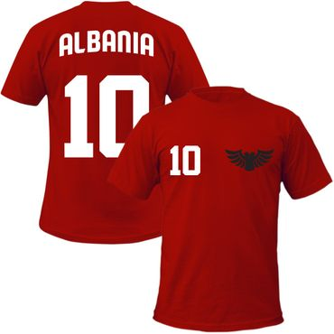Albania Kinder T-Shirt + Wunschnummer auf Rücken  WM EM Fan Albanien Team – Bild 1