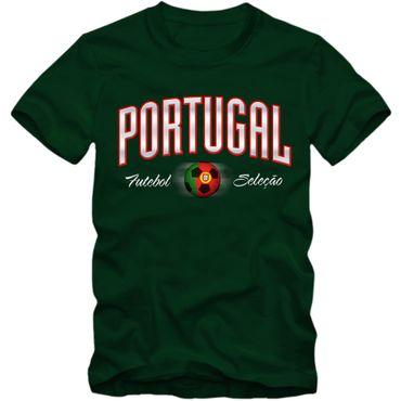 Herren Fußball T-Shirt Portugal Seleção Futebol Soccer Football EM Trikot – Bild 1