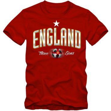 Herren Fußball T-Shirt England Three Lions Soccer Football EM Trikot – Bild 1