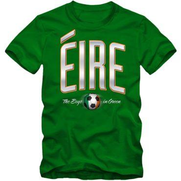 Herren Fußball T-Shirt Éire Ireland Irland Soccer Football EM Trikot – Bild 3