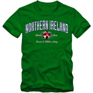 Herren Fußball T-Shirt Nordirland Northern Ireland Soccer Football EM Trikot – Bild 1