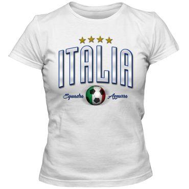 Damen Fußball T-Shirt Italien Italia Italy Football EM Trikot DTG – Bild 3