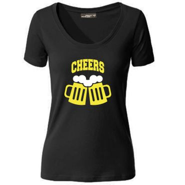 Damen T-Shirt  CHEERS Prost! Party FestSpaß Fun S-3XL NEU – Bild 1