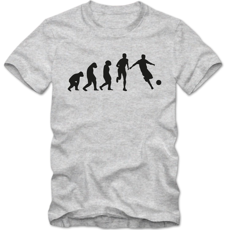 9960974b801a2c Herren T-Shirt Fussball Evolution Tee XS-4XL T-Shirts Herren Sport ...
