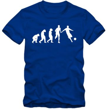 Kinder unisex T-Shirt Fussball Evolution Tee  Spaß Fun  – Bild 5
