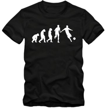 Kinder unisex T-Shirt Fussball Evolution Tee  Spaß Fun  – Bild 4