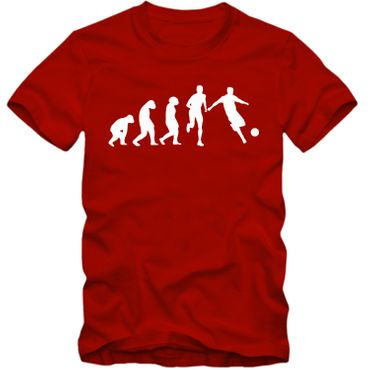 Kinder unisex T-Shirt Fussball Evolution Tee  Spaß Fun  – Bild 3