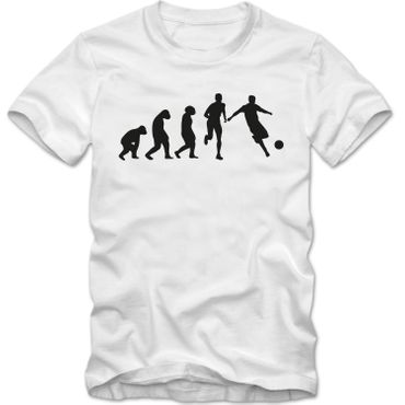 Kinder unisex T-Shirt Fussball Evolution Tee  Spaß Fun  – Bild 1