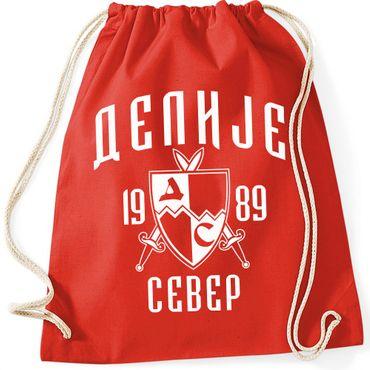 Turnbeutel Beutel Gymsac Delije Crvena Zvezda Red Star Belgrad Beograd Fußball  – Bild 2