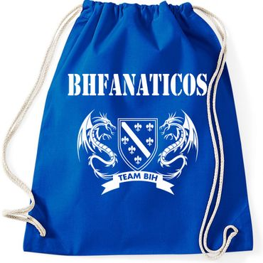 Turnbeutel  BHFANATICOS Bosna i Herzegovina BIH Zmajevi Fussball Gymnastikbeutel Bag  – Bild 3