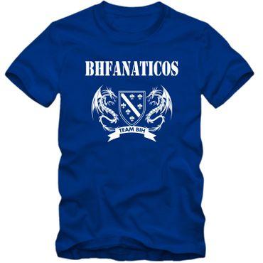 Herren T-Shirt BHFANATICOS Bosna i Herzegovina BIH Zmajevi Fussball S-4XL – Bild 3